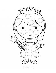 Princess And The Pea Coloring Pages Inspirational Do A Dot Coloring