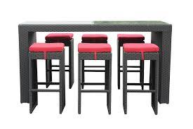 wicker bar height dining table: kontiki dining sets wicker bar sets amp balcony height lulu  piece bar height dining set