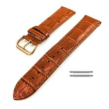 invicta compatible light brown croco leather replacement watch band strap rose gold buckle 1074 loading zoom