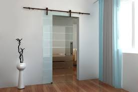 glass sliding barn doors bathroom privacy