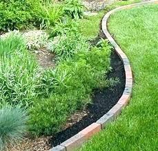 brick garden edging brick landscape