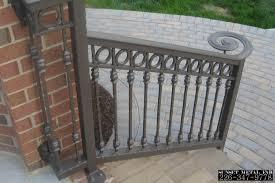 Wrought Iron Handrails Exterior Wrought Iron Railing Designs Home Design Ideas
