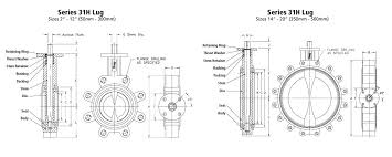 Butterfly Valve Size Chart Bray High Pressure Resilient Seated Butterfly Valve
