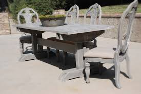 rustic gray dining table. Furniture: Weathered Gray Dining Table New Acme Furniture Wallace Hayneedle Intended For 4 From Rustic R