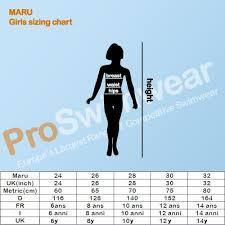 Maru Girls Size Chart