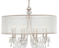 curtain charming drum crystal chandelier 16 crystal chandelier drum shade