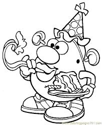 Small Picture Mr Potato Head 011 Coloring Page Free Mister Potato Coloring