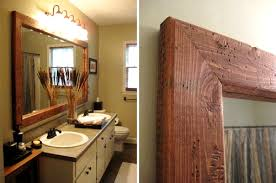rustic wood framed mirrors. Wood Framed Vanity Mirrors Contemporary Fabulous Bathroom Frame Mirror Home For 16 Rustic