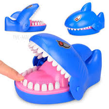 shark shape funny trick toy bite finger game funny lucky game gadget tvc mall