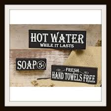 Home Decor Signs Sayings Bathroom Bath Block Signs Sayings Set Bathroom Home Decor 48