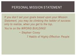 Personal Mission Statement   NSCBlog  Great class mission    Notice the key words