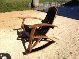 whiskey barrel adirondack chair wine furniture plans original