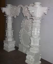 Thermocol Pillar Design Thermocol Makhar On Behance In 2020 Ceiling Art Wedding