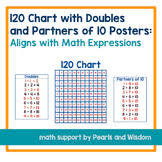Math Expressions 120 Chart Doubles Partners Worksheets Teaching Resources Tpt