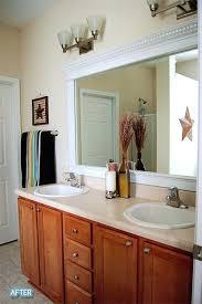 trim around bathroom mirror. How To Frame Bathroom Mirror With Molding Trim Around Stunning On Intended Best Crown .