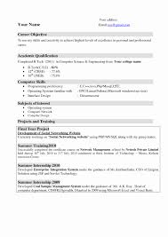 The Best Sample Of Resume Resume Format For Freshers Engineers Computer Science Lovely Resume 22
