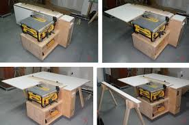 dewalt table saw outfeed table. introduction: tablesaw outfeed support workstation with aux fence \u0026 storage dewalt table saw p