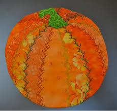 free pattern~ Pumpkin Crazy Quilt Mug Rug | Pellon® Projects ... & ~free pattern~ Pumpkin Crazy Quilt Mug Rug | Pellon® Projects Adamdwight.com