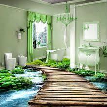 3d fußboden und luxuriöse bodenbeläge für ihr zuhause! Moderne Toiletten Benutzerdefinierte 3d Boden Malerei Wand Badezimmer Tragen Rutschfeste Wasserdicht Verdickt Selbstklebe Badezimmer 3d Wandtapete 3d Fussboden