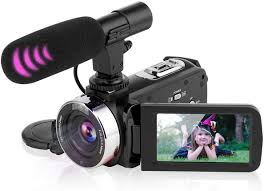 Amazon.com : Video Camera Camcorder Digital Vlogging Camera Video Recorder  for YouTube with Microphone 3.0