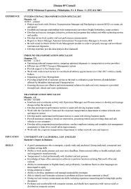 92A Job Description Resume Transportation Specialist Resume Samples Velvet Jobs 91
