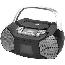 Small Cd Player For Bedroom Naxa Npb 268 Portable Cd Cassette Boombox Walmartcom