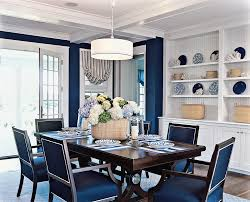 Navy Blue Dining Room Decor Decoraci On Interior