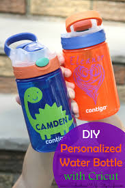 Water Bottles To Decorate DIY Personalized Water Bottles with Cricut Suburban Wife City Life 15