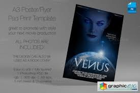 A3 Movie Poster Print Template 4 Free Download Vector