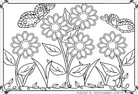 Coloring Pages Of A Flower Free Printable Flower Coloring Pages For