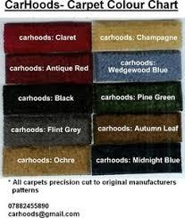 Details About Hillman Chrysler Hunter Minx Humber Sceptre Rootes Carpet Set Choice Colours New