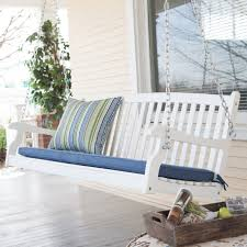 Belham Living Kimbro Lutyens Outdoor Porch Swing with Cushion | Hayneedle