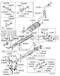 Mitsubishi parts diagram best of exhaust pipe muffler engine gnhel6