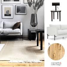 gray walls and rustic oak flooring