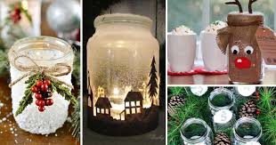 Decorated Christmas Jars Ideas 60 Quick and Cheap Mason Jar Crafts Filled With Holiday Spirit 2
