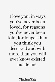 I Love You For You Quotes