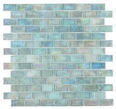 malibu turquoise brick iridescent glass