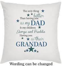 image is loading personalised cushion fathers day birthday gift dad daddy