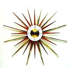 vintage starburst clock wall clock starburst clock starburst clock inches disassembles modern sunburst wall clock mid