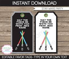 star wars birthday invite template star wars party favor tags template thank you tags