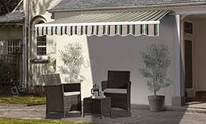 awnings canopies outsunny 2 5 x 2m patio awning manual retractable shade outdoor canopy shelter garden