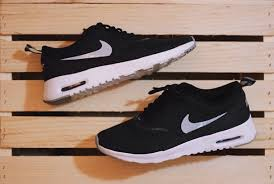 black nike running shoes tumblr. fashion nike air max thea womens tumblr mood351 black running shoes