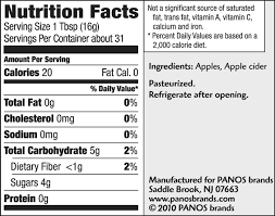 nutrition facts and ings