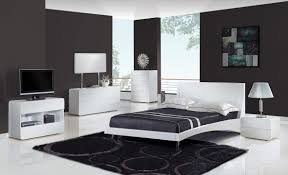 Shiny White Bedroom Furniture Contemporary Modern Bedroom Furniture Shiny Grey Marble Laminate