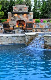 Fireplace Pool Waterfall Jacuzzi - yep, that's pretty much all I need :)