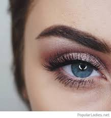 rose eye make up for blue eyes