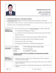 Best Format For Freshers Pdf Download Engineering Electrical