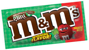 mint chocolate candy brands. Unique Mint Crunchy Mint Is The Winning Flavor In Mu0026Mu0027s 2018 U201cFlavor Voteu201d Campaign Inside Chocolate Candy Brands Y