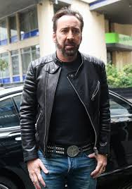 nicolas cage black real sheep skin leather jacket