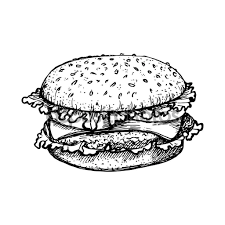 depositphotos_130228926 stock illustration sketch hamburger or burger vector sketch hamburger or burger vector logo design template fast food on sandwich label template